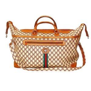 Authentic Gucci Vintage GG Plus 2 Way Travel Bag
